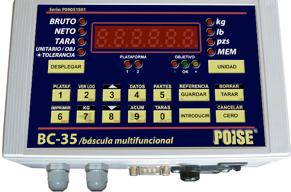 Indicador de Báscula POISE BC-35